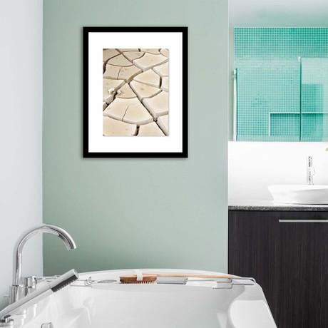 "Cracked Earth Framed Wall Art (12""W x 16""H x 1""D)"