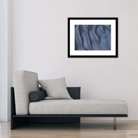 "Shades of Blue Framed Wall Art (12""W x 16""H x 1""D)"