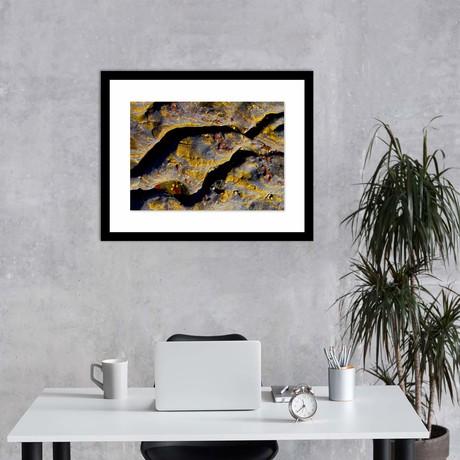 "Speckled Rock Framed Wall Art (12""W x 16""H x 1""D)"