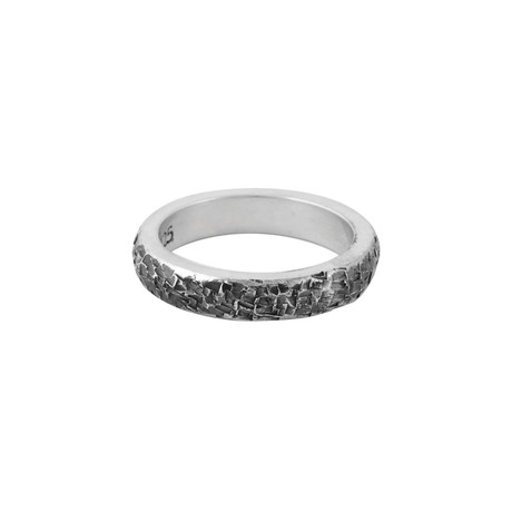 Square Textured Stackable Ring // Size 11.5