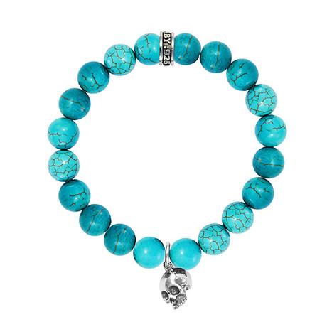 Turquoise Bracelet + Hamlet Skull // 10mm