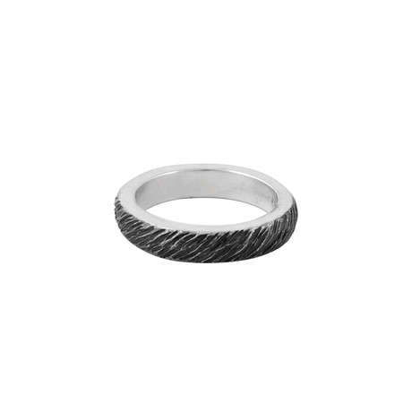 Slash Texture Stackable Ring (Size 11)