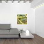 """The Garden at Arles // Vincent van Gogh // 1888 (18""""W x 18""""H x 0.75""""D)"""