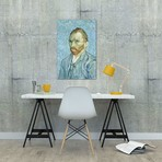 """Self Portrait // Vincent van Gogh // 1889 (26""""W x 18""""H x 0.75""""D)"""