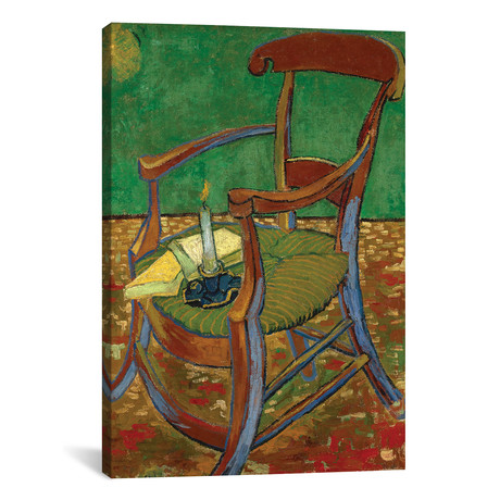 "Gauguin's Chair // Vincent van Gogh // 1888 (18""W x 26""H x 0.75""D)"