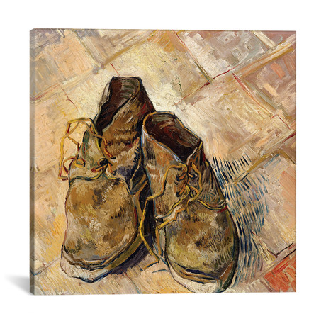 "Shoes // Vincent van Gogh // 1888 (18""W x 18""H x 0.75""D)"