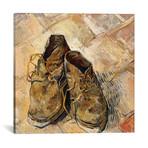 "Shoes // Vincent van Gogh // 1888 (18""W x 18""H x 0.75""D)"
