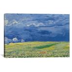 "Wheatfields under Thunderclouds // Vincent van Gogh // 1890 (26""W x 18""H x 0.75""D)"