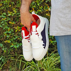 317 Low Sneakers // White + Red + Navy (US: 10.5)