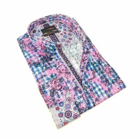 Marty Print Button-Up Shirt // Multicolor (S)