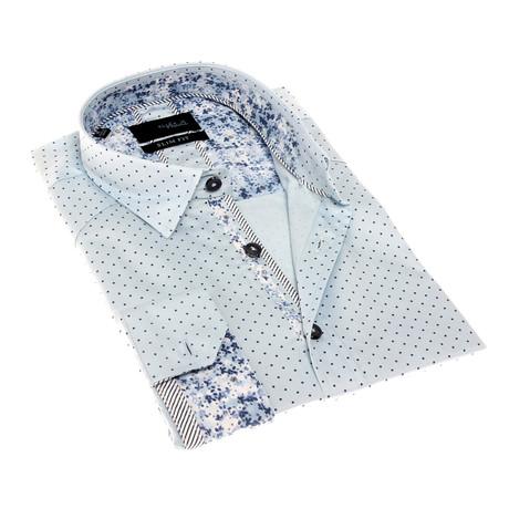 Barrett Print Button-Up Shirt // Multicolor (S)