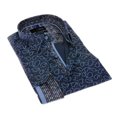 Elijah Print Button-Up Shirt // Multicolor (S)