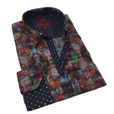 Gerald Print Button-Up Shirt // Multicolor (S)