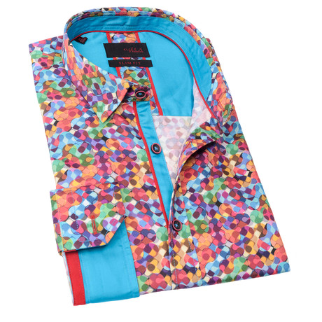 Kenneth Print Button-Up Shirt // Multicolor (S)