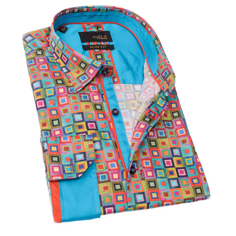 Robby Print Button-Up Shirt // Multicolor (S)