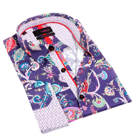 Johnny Print Button-Up Shirt // Multicolor (S)