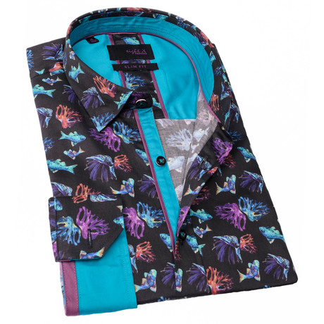 Donnie Print Button-Up Shirt // Multicolor (S)