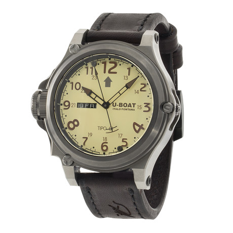 U-Boat Tipo 01 Titanio BE/BR Automatic // 7900 // Store Display