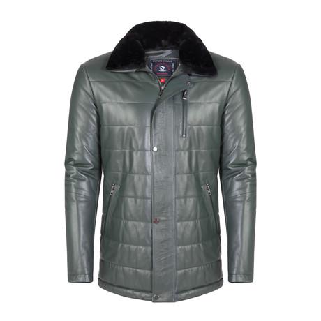 Turk Leather Jacket // Green (S)