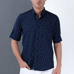 Jose Button-Up Shirt // Dark Blue (Small)