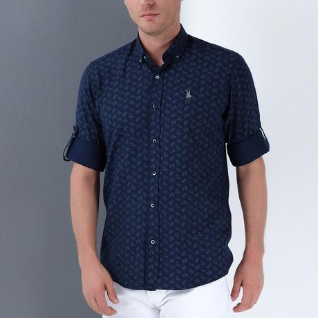Davis Button-Up Shirt // Dark Blue (Small)