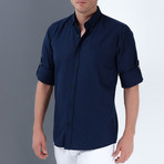 Levi Button-Up Shirt // Dark Blue (2XL)