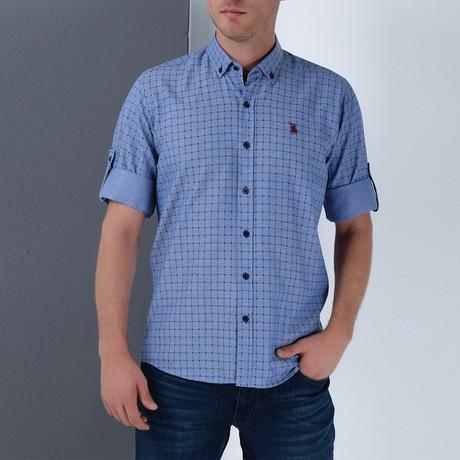 Mel Button-Up Shirt // Dark Blue (Small)
