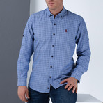Mel Button-Up Shirt // Dark Blue (Small)