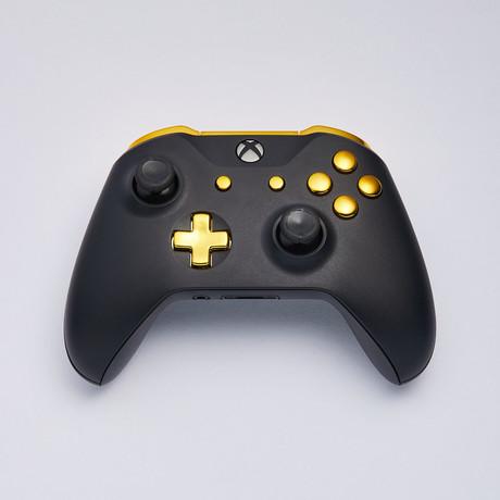 Xbox One S Custom Controller // Matte Black + Gold Edition
