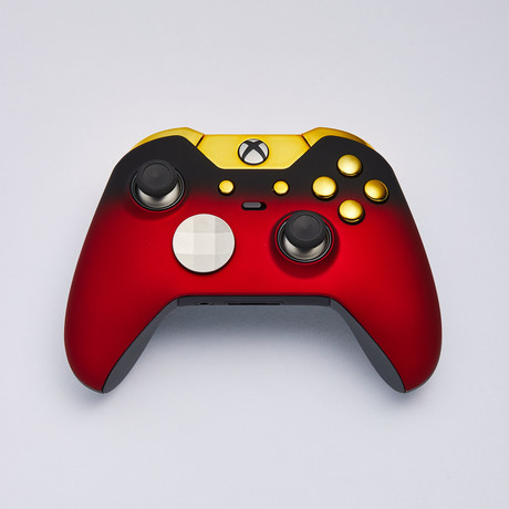 Xbox Elite Custom Controller // Red Shadow + Gold Edition