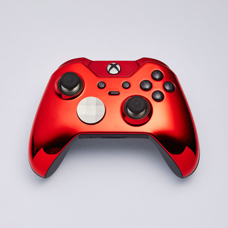 Xbox Elite Custom Controller // Chrome Red Edition