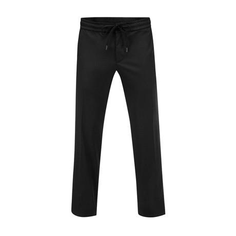 Draw-Cord Pants // Black (30WX34L)
