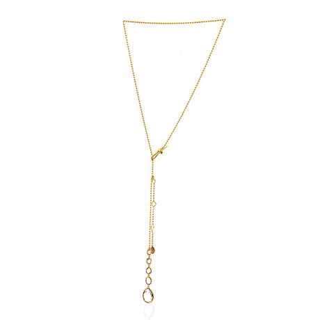 Gucci Rocca 18k Yellow Gold Quartz Lariat Necklace