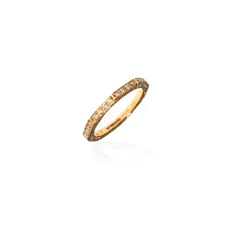 Stephen Webster Deco 18k Yellow Gold Diamond Band Ring // Ring Size: 6.75
