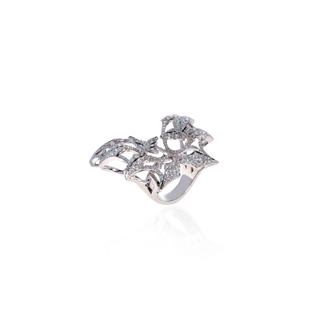 Stephen Webster Fly By Night 18k White Gold Diamond Statement Ring // Ring Size: 5.75