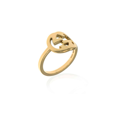 Gucci Icon 18k Yellow Gold Logo Ring // Ring Size: 6