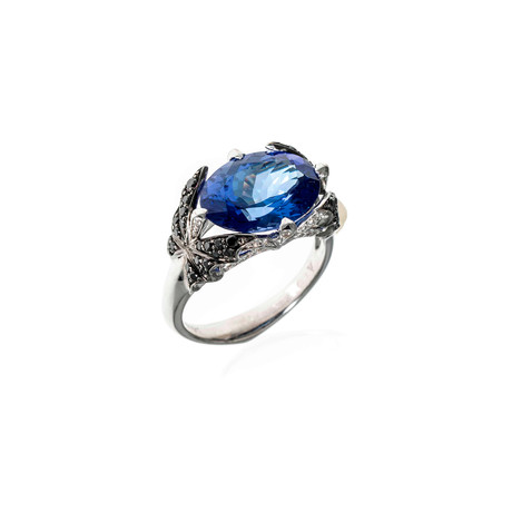 Stephen Webster Fly By Night 18k White Gold Diamond + Tanzanite Cocktail Ring // Ring Size: 7