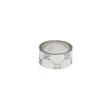 Gucci Icon 18k White Gold Band Ring // Ring Size: 5.5