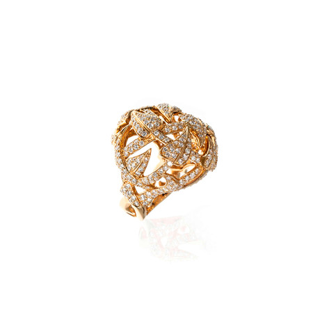 Stephen Webster Poison Ivy 18k Yellow Gold Diamond Statement Ring // Ring Size: 7