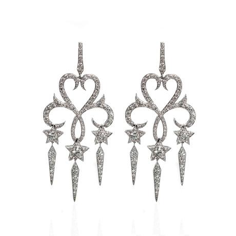 Stephen Webster Belle Epoque 18k White Gold Diamond Chandelier Earrings I
