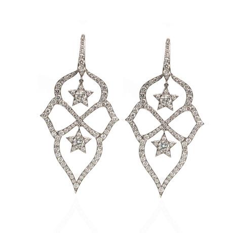 Stephen Webster Belle Epoque 18k White Gold Diamond Dangle Earrings