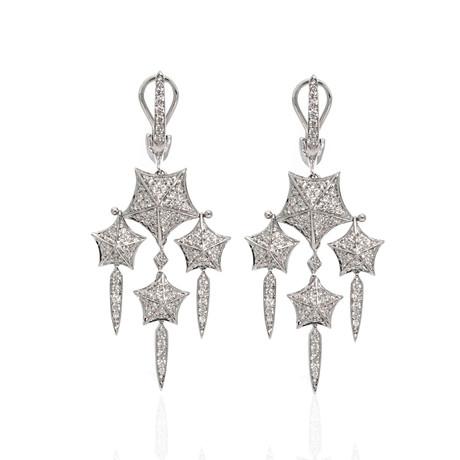 Stephen Webster Stargazer 18k White Gold Diamond Dangle Earrings