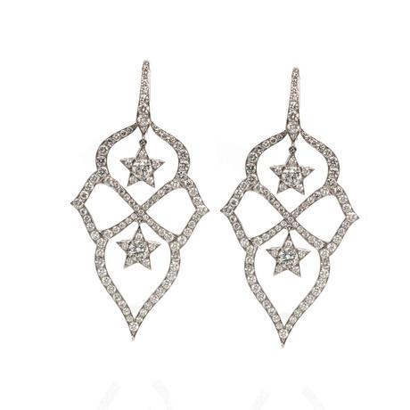 Stephen Webster Belle Epoque 18k White Gold Diamond Chandelier Earrings II