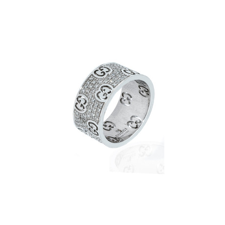 Gucci 18k White Gold Stardust Diamond Ring // Ring Size: 6.5