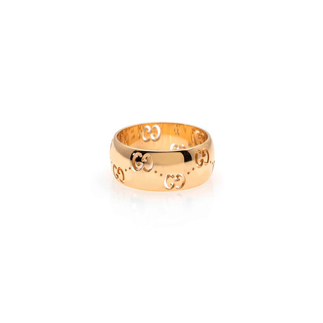 Gucci Icon 18k Yellow Gold Band Ring I // Ring Size: 6.75