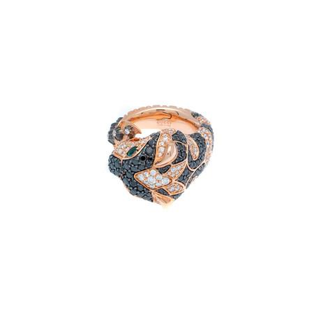 Gucci Le Marche Des Merveilles 18k Pink Gold Multi-Stone Ring // Ring Size: 6.5