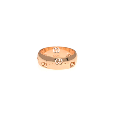 Gucci Icon 18k Rose Gold Band Ring // Ring Size: 6.75