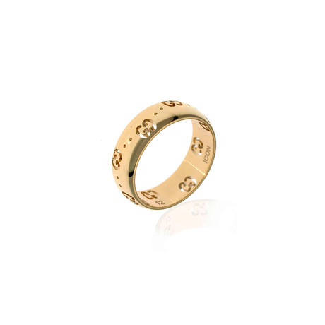 Gucci Icon 18k Yellow Gold Band Ring // Ring Size: 6