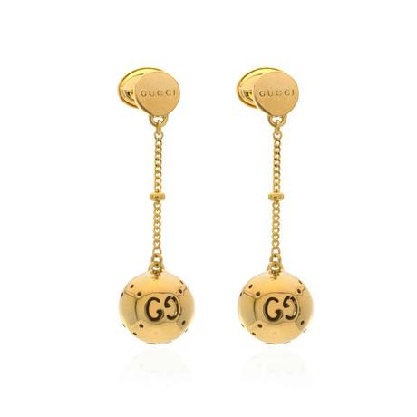 Gucci Boule 18k Yellow Gold Drop Earrings II