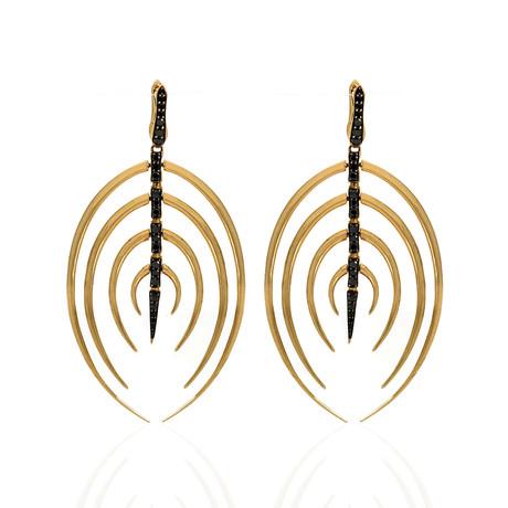 Stephen Webster Jewels Verne 18k Yellow Gold Diamond Dangle Earrings